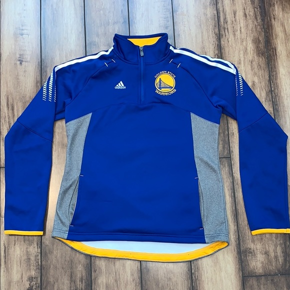 adidas Other - Adidas Golden State Warriors 3/4 Zip Up Pullover